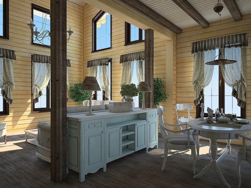 Внутренняя отделка дома из клееного бруса фото